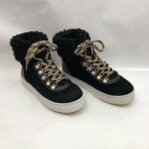 Sam Edelman Luther Faux Fur high top sneaker/boot